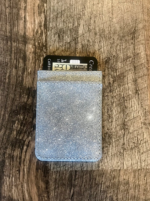Silver Sparkle CC Phone Pocket