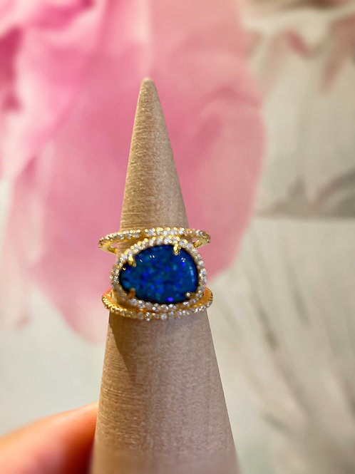 Blue Opal Ring Size 7