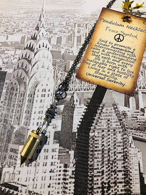 Brass Peace Bullet w/ ☮️message