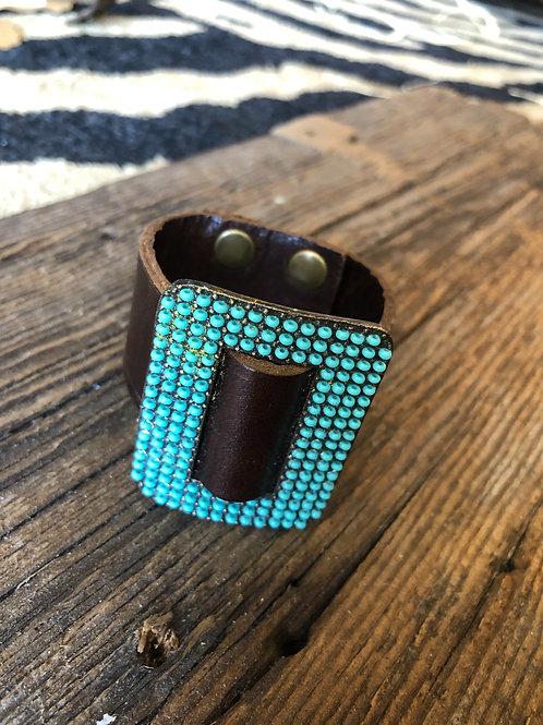 Vintage Brown Turquoise Bracelet