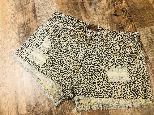 Cheetah Jean Shorters