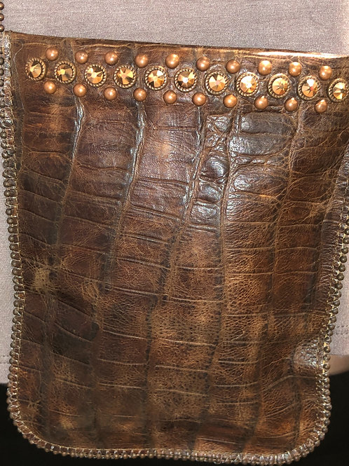 Leather Crocodile Crossbody