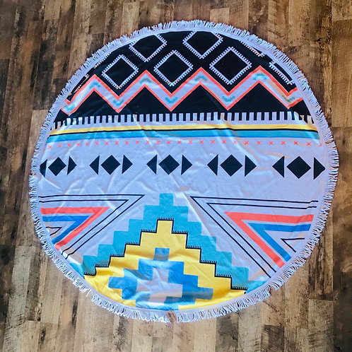 Aztec Beach Circle Towel