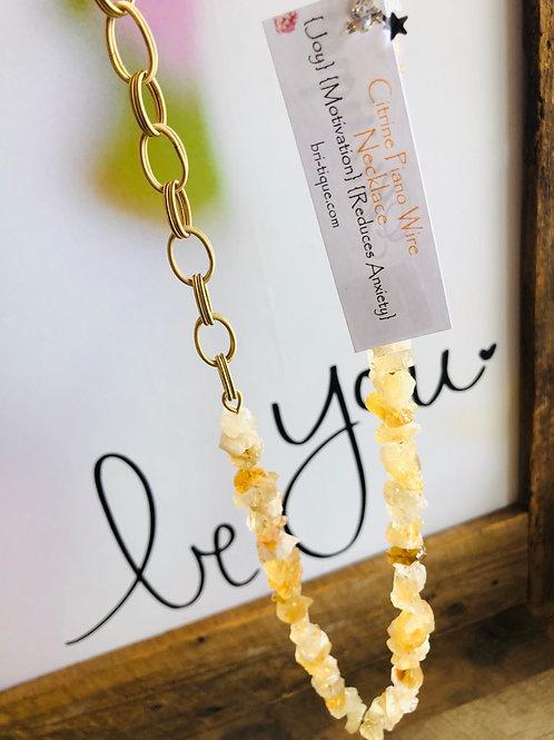 Citrine Piano Wire Necklace
