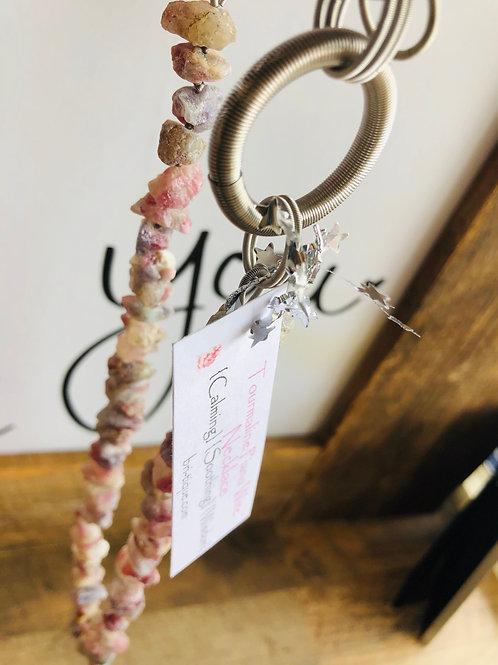 Tourmaline Piano Wire Necklace
