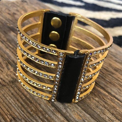 18K Gold Black Diamond Bracelet
