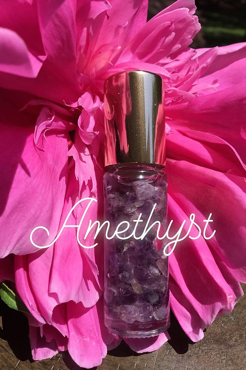 Serenity Essential Oil Roller with Amethyst