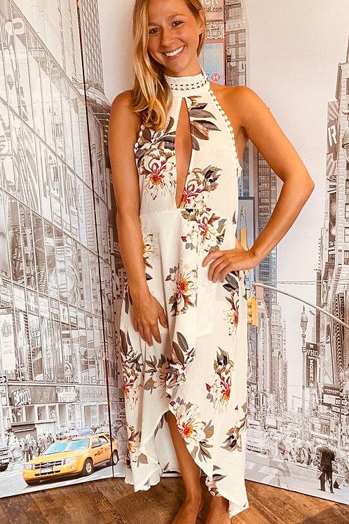Floral Halter Hi-Lo Beauty of a Dress!