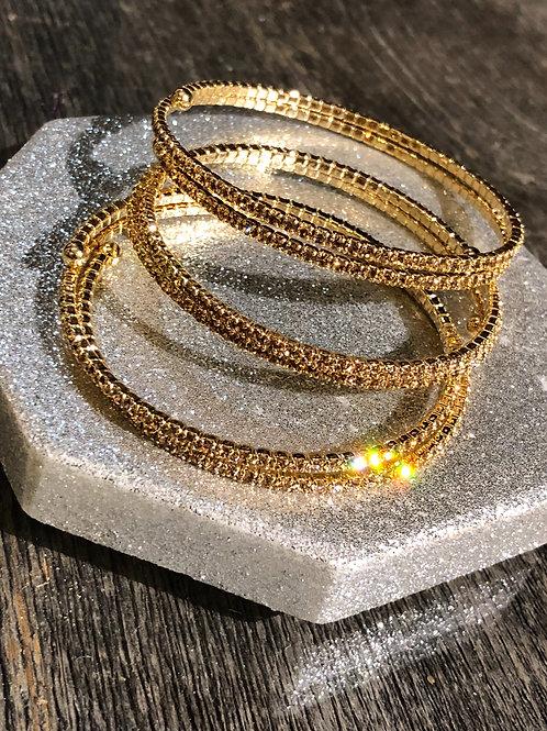 Gold Double Bangle