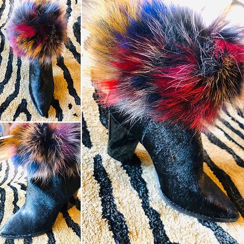 Multi-Color Fox Fur Cuffs