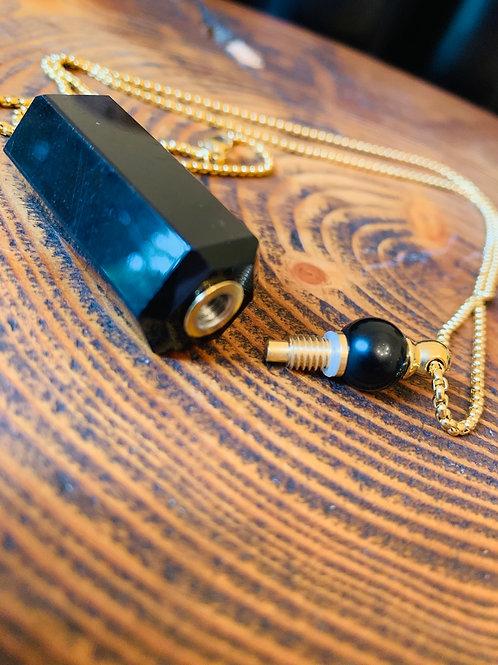 Black Agate Essential Oil Necklace Holder