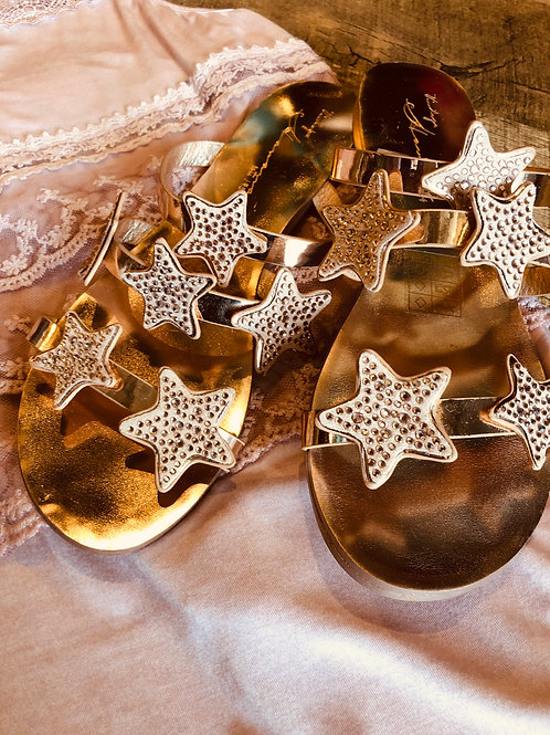Rose Gold Star Sandals
