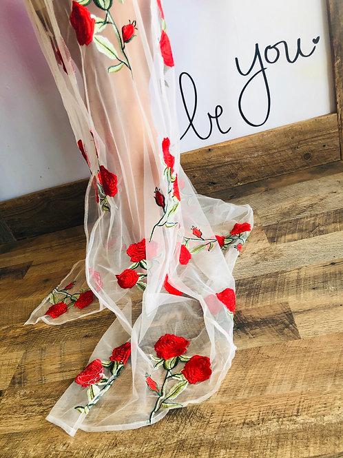 Sheer Rose 🌹 Dress