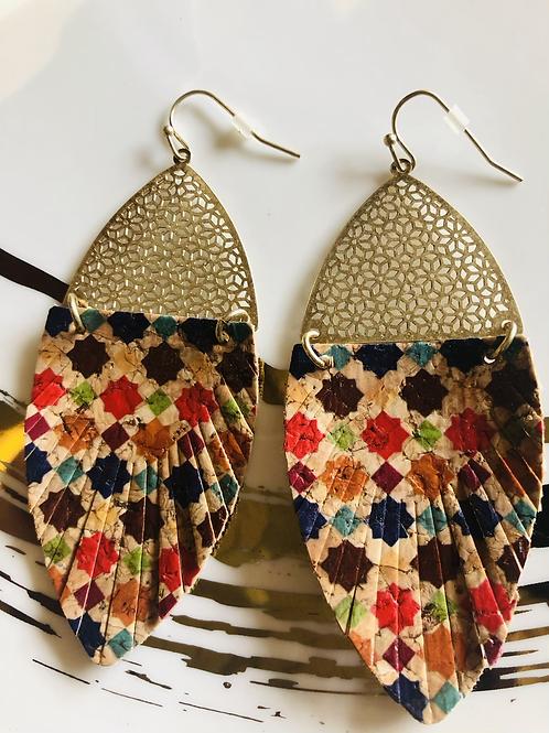Moroccan Cork Earrings