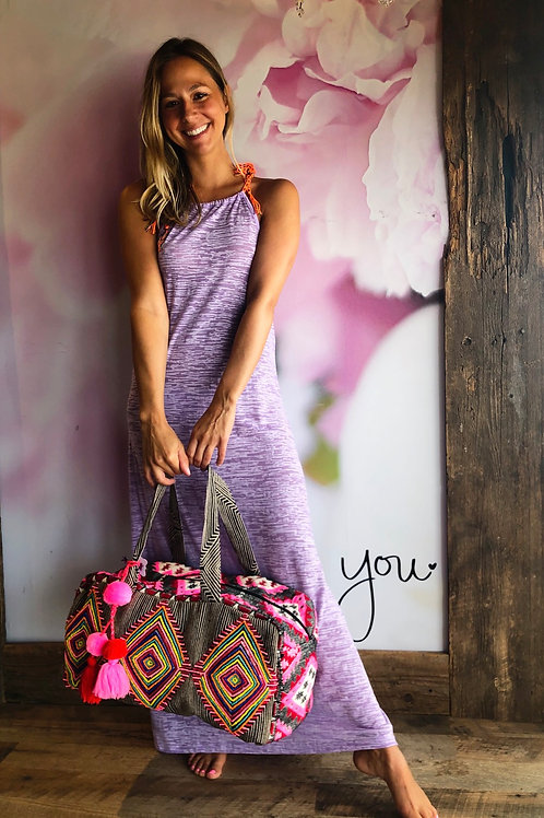 Lavender Inca Back Dress