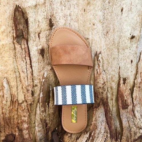Stripes/Camel Sandals