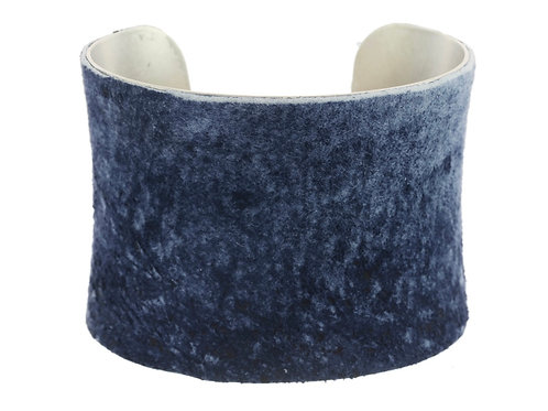Suede Denim Cuff