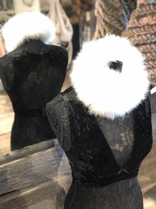 Black Crushed Velvet Bralette