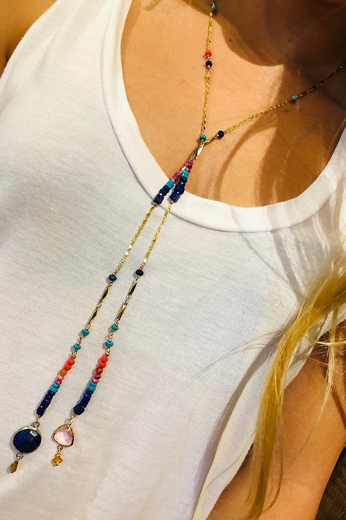 Gem Lariat Necklace