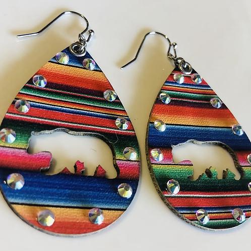 Mama Bear 🐻 Leather Earrings