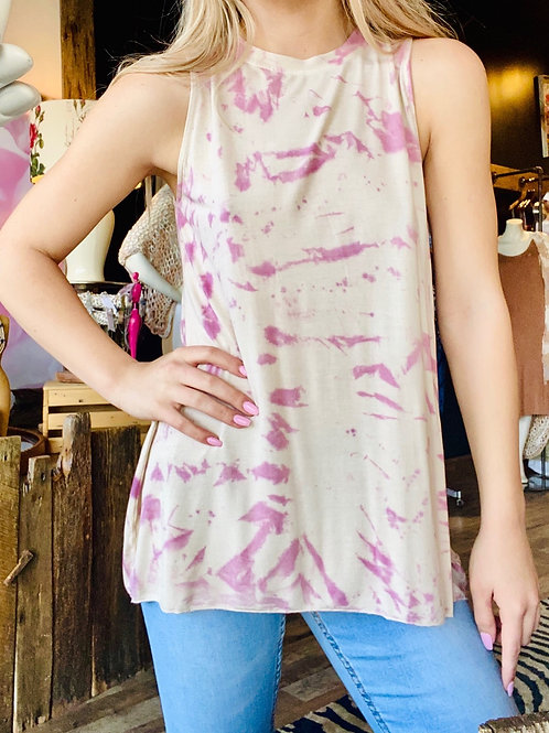 Sandy Pink Tank w/ Back Zipper Top