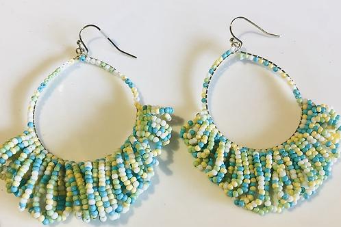 Earthy Beaded Earrings