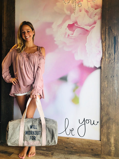 Blush Pink Rope Lace Top