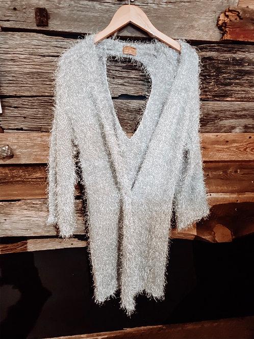 Silver Mohair Kimono