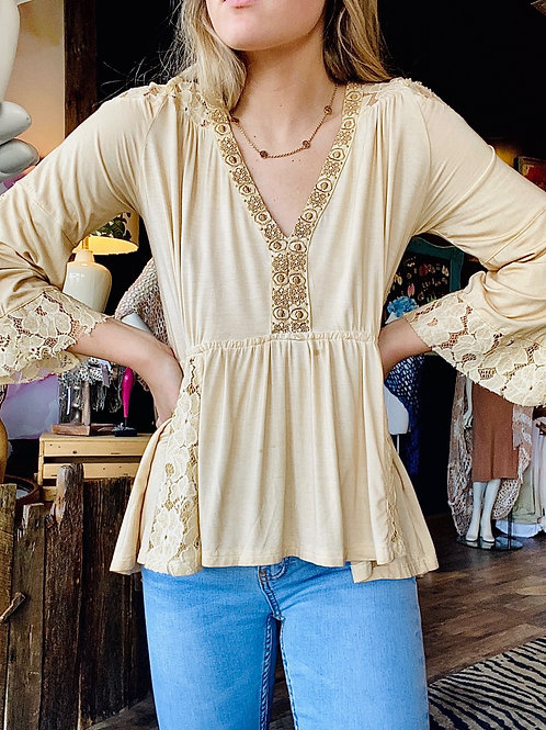 Honey Gold Lace Top
