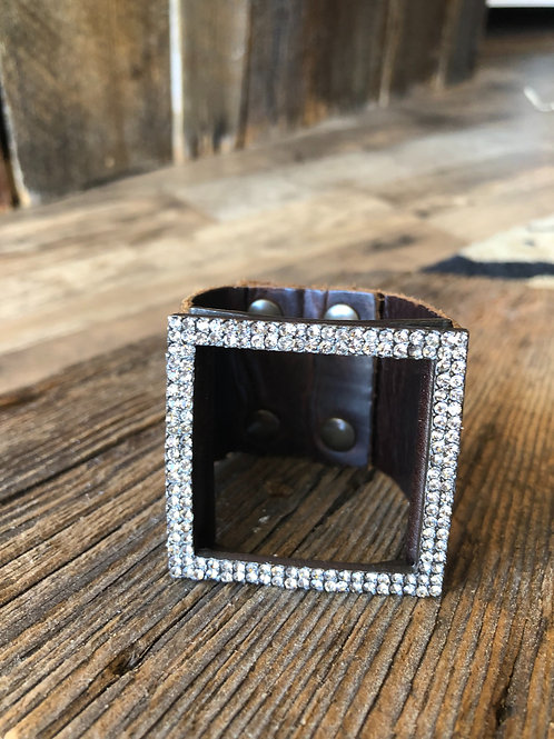Square Black Diamond Bracelet