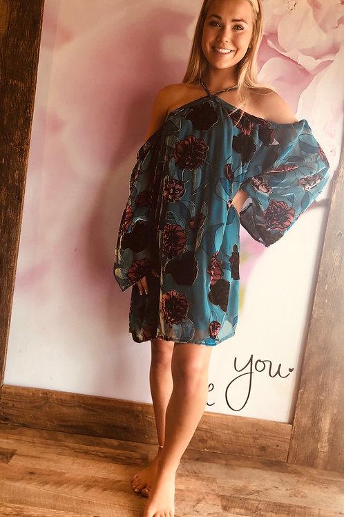 Velvet Lover Floral Dress
