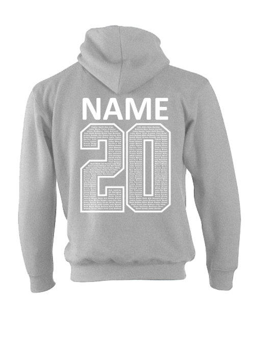 Grey Name 20 Chipping Campden Hoodie
