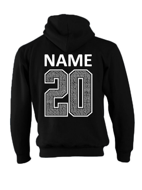Black Name 20 Chipping Campden Hoodie