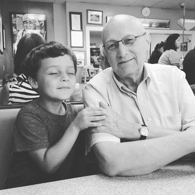 Jim with grandson Henry
