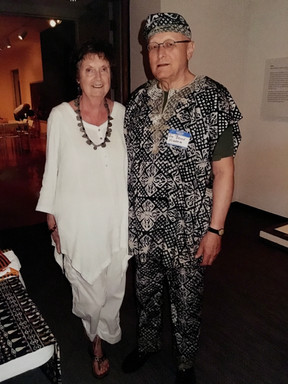 Helen and Jim at a Friends of African Art event at The Chrysler Museum of Art