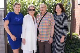 Liz, Helen, Jim and Kerry at Liz's baby shower, September 2019