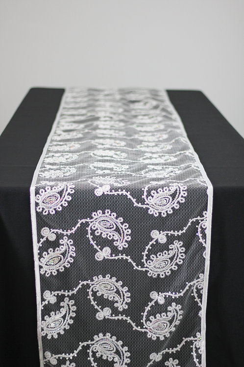 Coco Paisley Runner - Silver