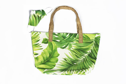 Palm Beach Bag and Face Mask with Non-Woven Interfacing Filter