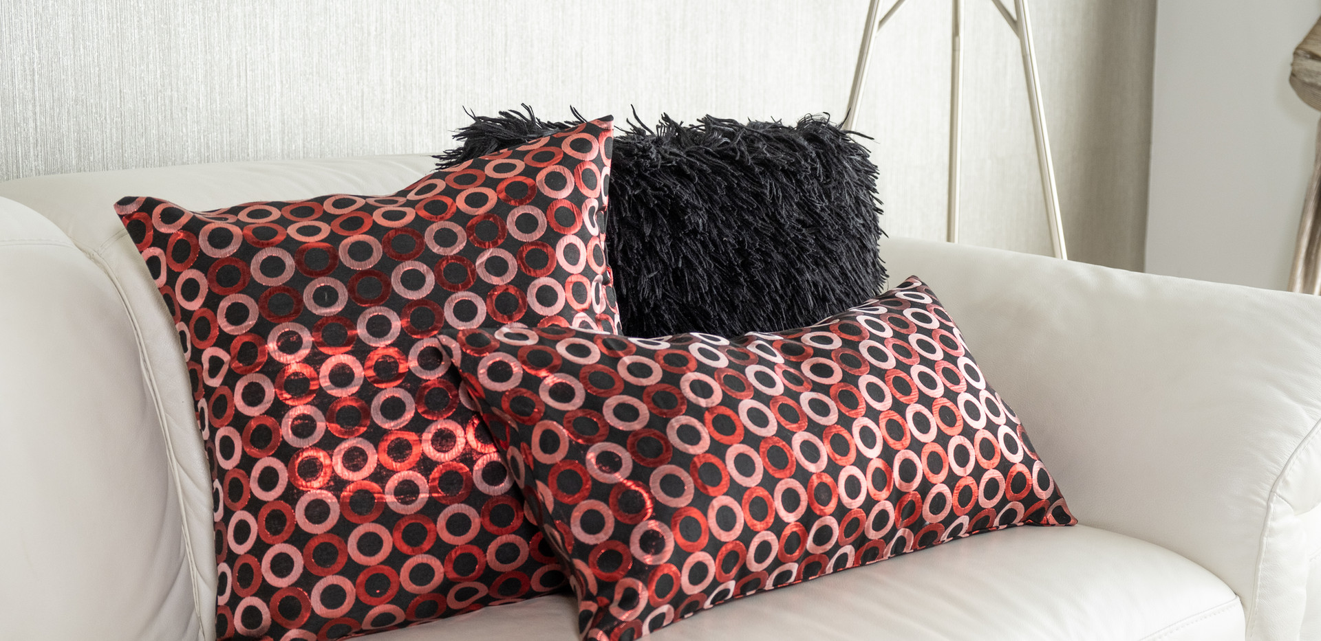 Black and Red Cushions