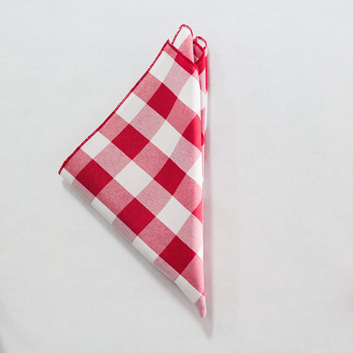 Checkers Napkin - Red and White