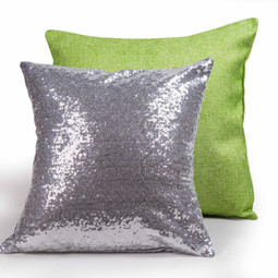 Silver and Green Pillows