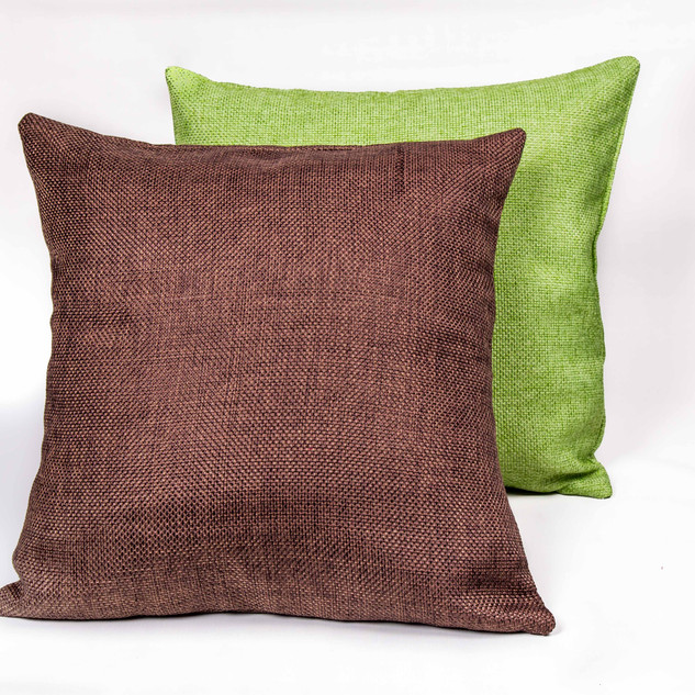 Brown and Green Pillows