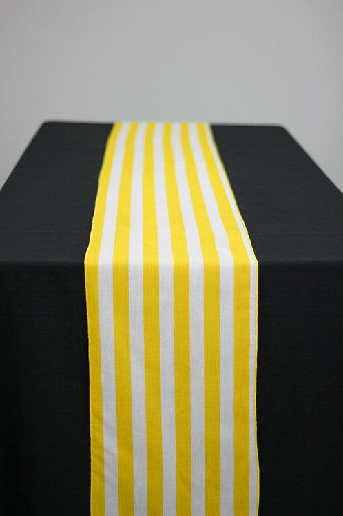 "Ashley 1"" Striped Runner - Yellow White"
