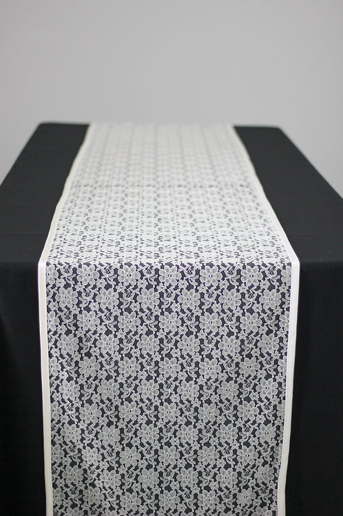 Rose Lace Runner - Ivory