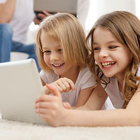 family, children, technology and home co