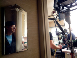 Sam Hull on set of Bucksville Director Consultant and Acting Coach