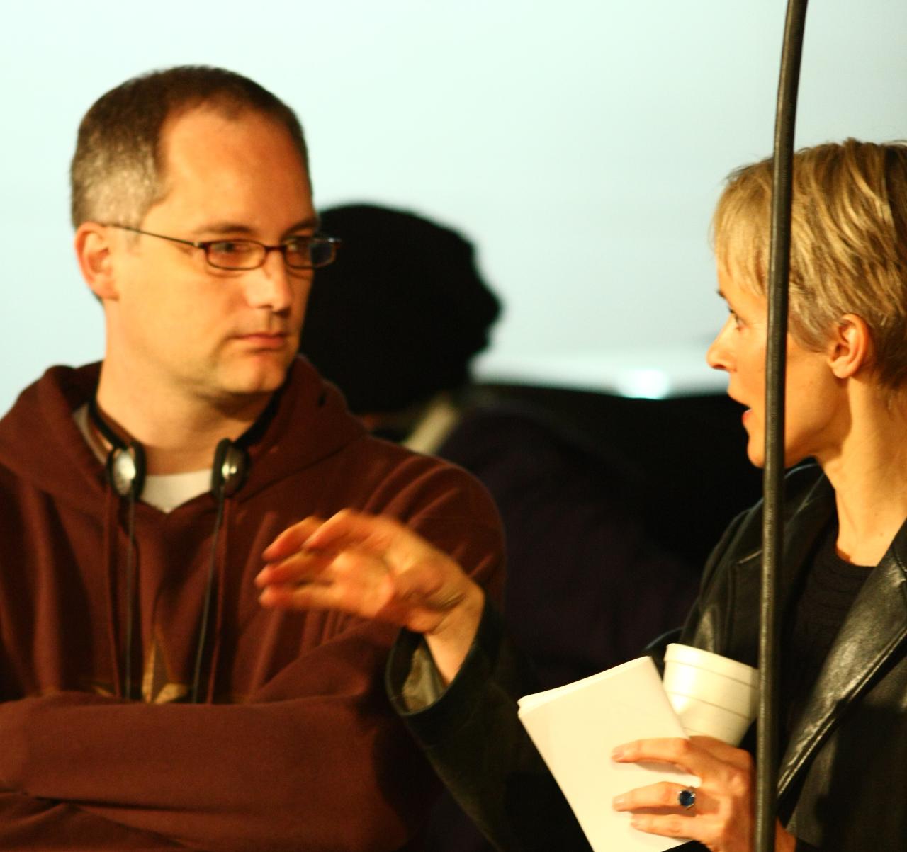 Sam and Susan Hess on NDY set
