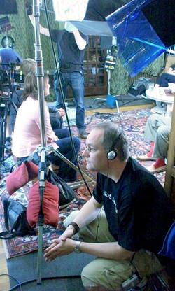 director sam hull on the set of Not Dead Yet.jpg