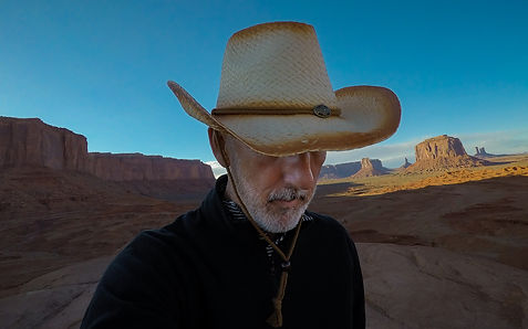 desert man cowboy arizona actor selfie monument valley