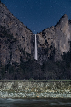 bridalveil at night